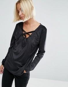 Рубашка из искусственной замши Uncivilised - Черный