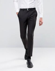 Зауженные меланжевые брюки Burton Menswear - Черный