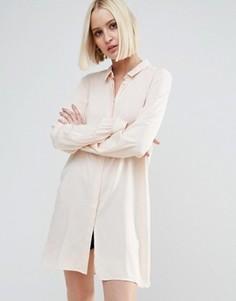 Удлиненная рубашка Vero Moda - Кремовый