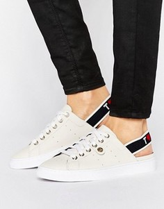 Кроссовки с открытой пяткой и логотипом Tommy Hilfiger Venus - Белый