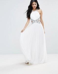 Платье макси с вырезами Forever Unique - Белый