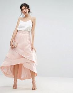 Юбка с драпировкой Coast Lorenza - Розовый