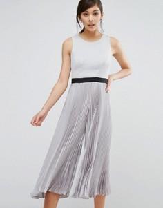 Комбинезон с юбкой-шортами Coast Jenna - Серебряный