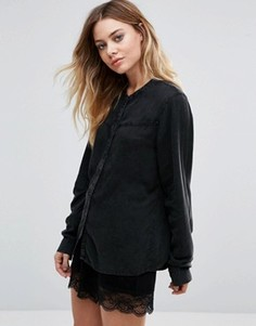 Рубашка без воротника Vila - Черный