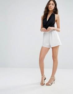 Блестящие шорты с эластичным поясом Oh My Love - Белый