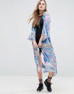 Кимоно с голографическим принтом Jaded London - Синий