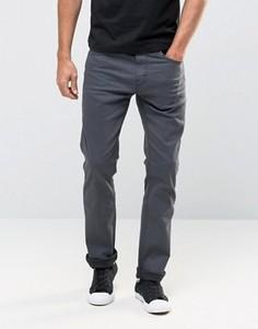 Узкие серо-черные выбеленные джинсы 511 Levis Line 8 3D - Серый
