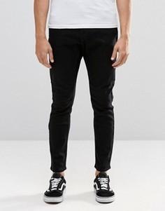 Черные суженные книзу джинсы с заниженной проймой Cheap Monday - Черный