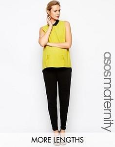 Трикотажные брюки-галифе для беременных ASOS Maternity - Черный