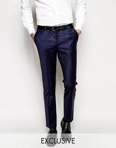 Супероблегающие эластичные брюки Noose & Monkey - Синий