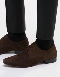 Замшевые туфли дерби ASOS - Коричневый