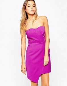 Асимметричное платье без бретелек Adelyn Rae - Розовый