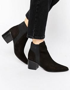 Черные кожаные ботинки челси на каблуке ALDO Etiweil - Черный