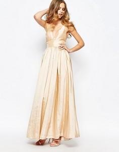 Платье макси с глубоким вырезом Fame and Partners - Розовый