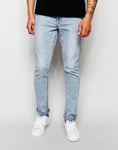 Голубые джинсы скинни Systvm - Синий