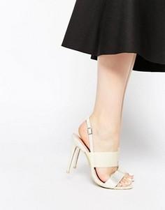 Сандалии на каблуке с ремешками Paper Dolls - Белый