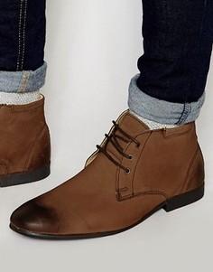 Кожаные ботинки чукка ASOS - Коричневый
