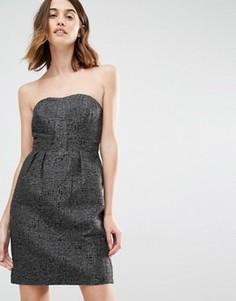 Платье бандо для выпускного Vila - Черный