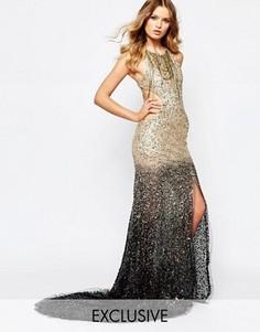 Платье макси с эффектом омбре и отделкой пайетками A Star Is Born - Мульти