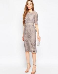 Кружевное платье-футляр ASOS Premium Occasion - Фиолетовый
