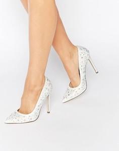Туфли на высоком каблуке с декоративной отделкой ASOS PHILIPPINES Bridal - Кремовый
