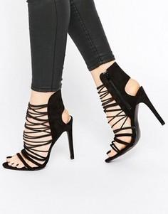 Босоножки на каблуке с ремешками Public Desire Anina - Черный