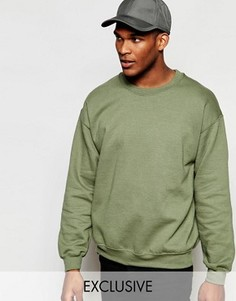Oversize-свитшот Reclaimed Vintage - Зеленый
