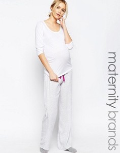Пижамные брюки с леопардовым принтом Hotmilk - Серый