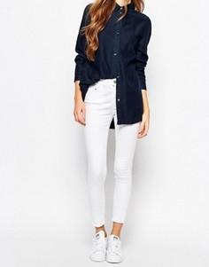 Укороченные джинсы скинни Waven Freya - Белый