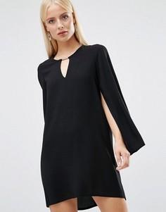 Цельнокройное платье с расклешенными рукавами Forever Unique Asha - Черный