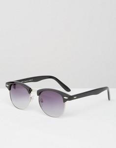 Черные солнцезащитные ретро‑очки с дымчатыми стеклами 7X - Черный