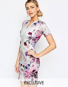 Платье-футляр с цветочным принтом Hope and Ivy - Мульти