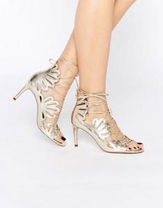 Туфли на каблуке со шнуровкой ASOS SWIRL - Золотой