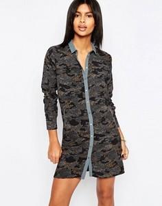 Платье-рубашка с камуфляжным принтом Pepe Jean Ilford - Мульти