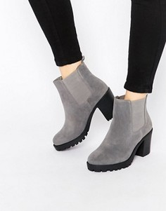 Ботинки челси на массивном каблуке London Rebel - Серый