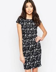 Цельнокройное платье с цветочным принтом Sugarhill Boutique Georgie - Темно-синий