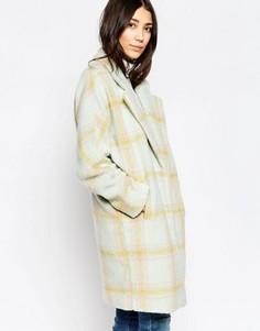 Oversize-пальто в клетку Yumi - Мульти