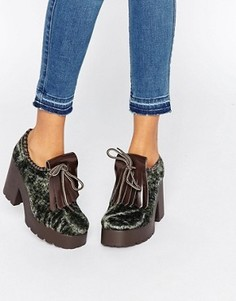 Туфли на каблуке и платформе Eeight Janis - Зеленый