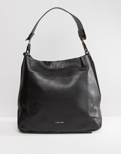 Сумка-хобо на плечо Calvin Klein - Черный