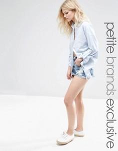 Рваные джинсовые шорты Glamorous Petite - Синий