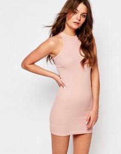 Облегающее платье мини New Look - Розовый