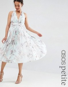 Платье миди с принтом роз ASOS PETITE WEDDING - Мульти