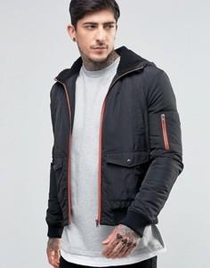Куртка на молнии с капюшоном Another Influence - Черный