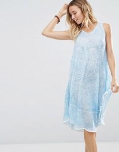 Платье мини с принтом Anmol - Темно-синий