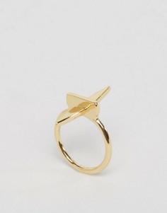 Заостренное кольцо Ashiana - Золотой