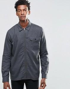 Куртка в стиле рубашки на молнии ADPT - Черный