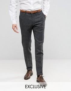 Зауженные брюки из 100% английской шерсти Heart and Dagger - Серый