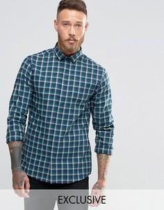 Рубашка с воротником с широко расставленными углами Heart & Dagger - Темно-синий