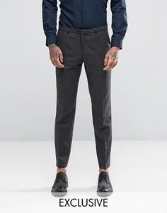 Зауженные брюки в клетку Heart & Dagger - Серый
