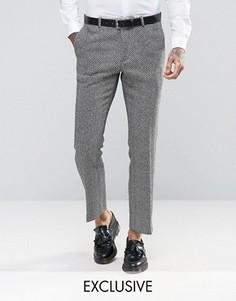 Суперузкие брюки с черно‑белым шевронным узором Heart and Dagger - Белый